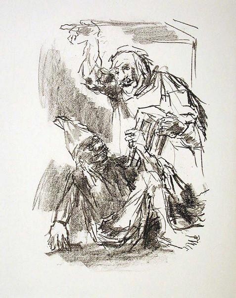 Lear and Fool, (Act III, Scene VI)