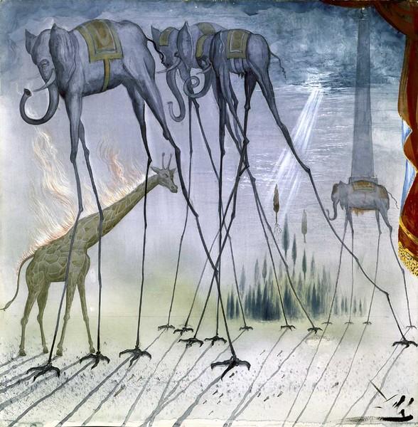 The Elephants (Design for the Opera La Dama Spagnola e il Cavaliere Romano)