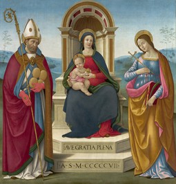 Madonna and Child with St. Justus of Volterra and St. Margaret of Antioch.