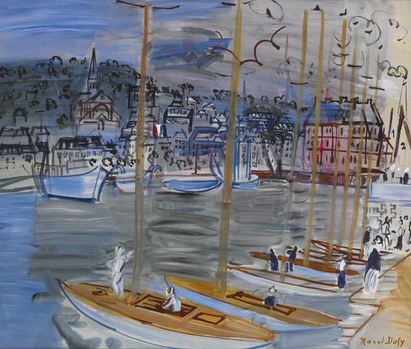Yachts in the Port of Deauville (Yachts dans le Port de Deauville)