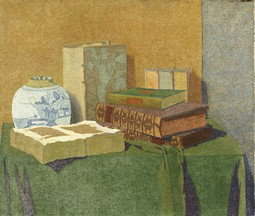 Still Life with Books and Chinese Vase