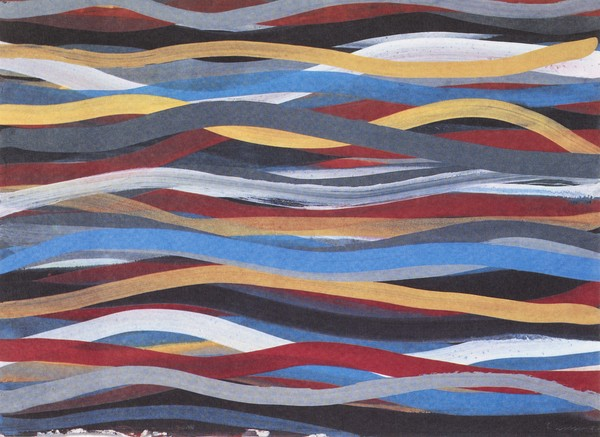 lithograph for Wavy Bands of Color
