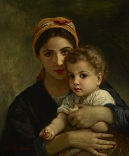 "Copy of ""Young Girl and Child"" by William Bouguereau"
