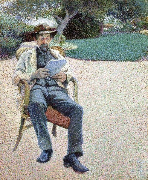 Père Biart Reading in the Garden