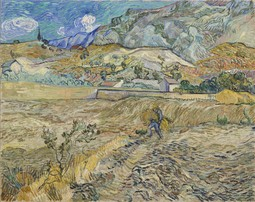 Landscape at Saint-Rémy (Enclosed Field with Peasant)