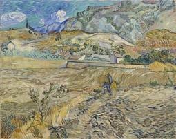 Landscape at Saint-Rémy (Enclosed Field with Peasant)