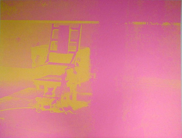 Electric Chair (bright pink, bright yellow)