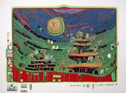 The Houses Are Hanging Underneath the Meadows Friedensreich Hundertwasser (Austrian, 1928-2000)