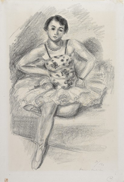 Seated Dancer, Left Leg Folded Under