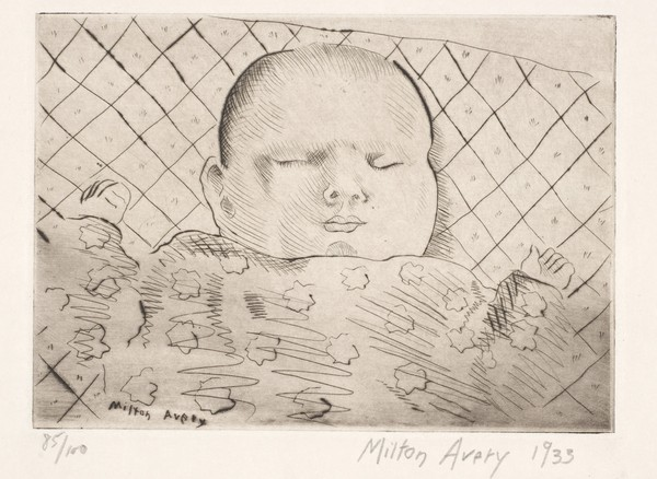 Sleeping Baby (Study of March Avery)
