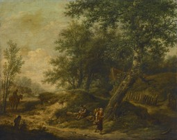 Landscape with Cottage and Travelers