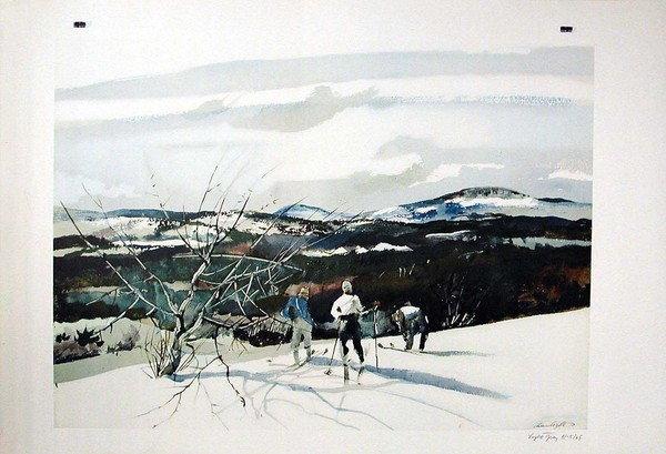 Mt. Kearsarge by Andrew Wyeth (reproduction)