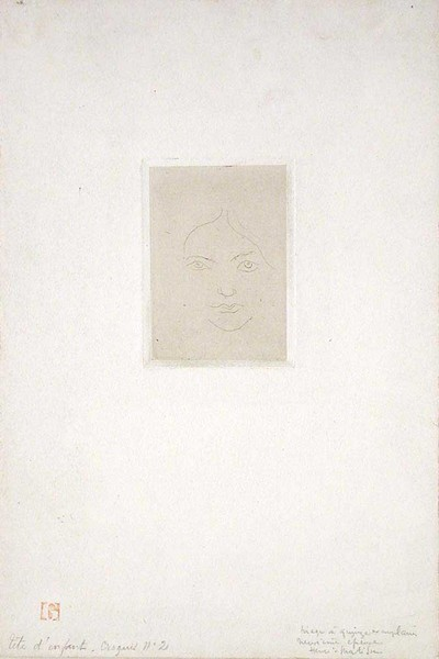 Mme. Vignier or Tête d'enfant - Croquis no. 2 (Child's Head - Sketch no. 2)