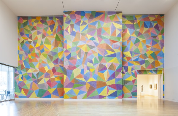 Wall Drawing No. 652, Continuous Forms With Color Acrylic Washes Superimposed